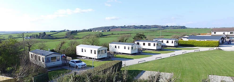 Statics at Looe Country Park, Caravan and Campsite near Looe
